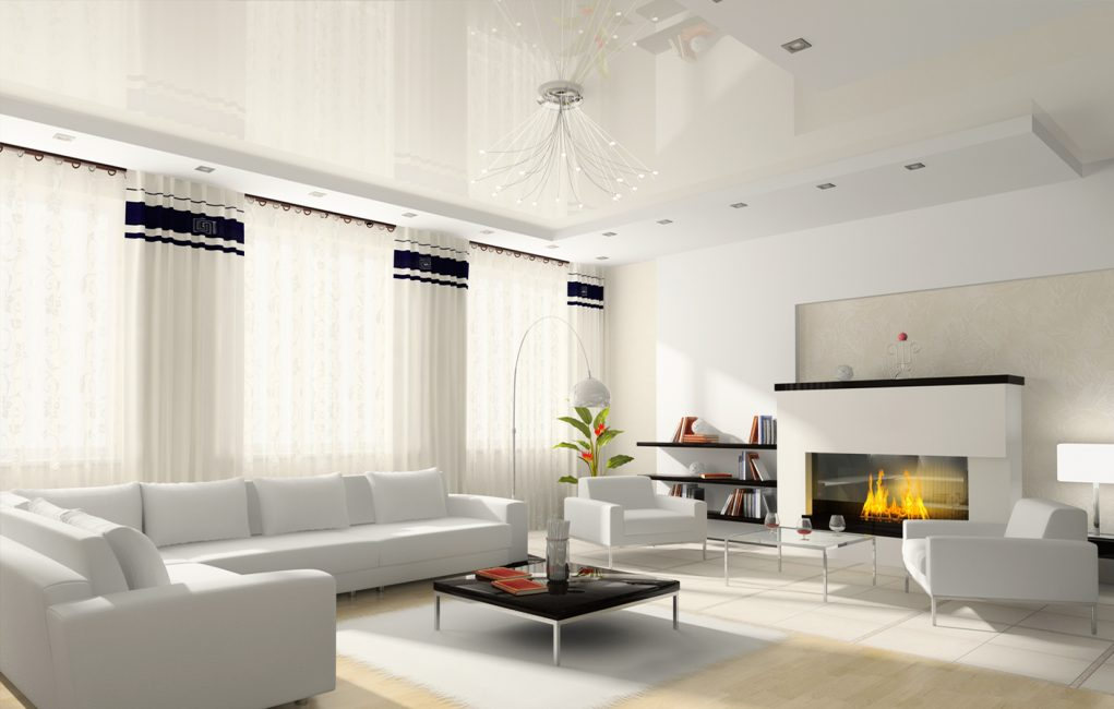 Putih akan mengembangkan bilik secara visual.