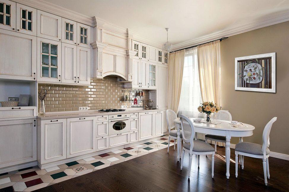 Kesan linen di dapur bergantung kepada lokasi yang betul.