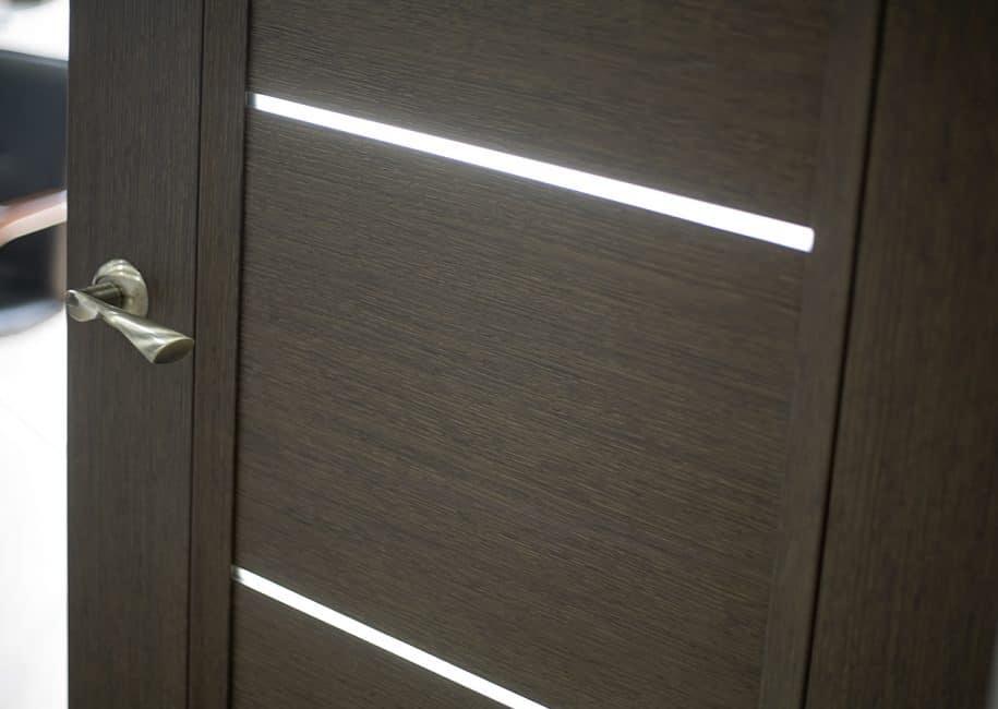 Kapının tasarımı minimalist görünüyor
