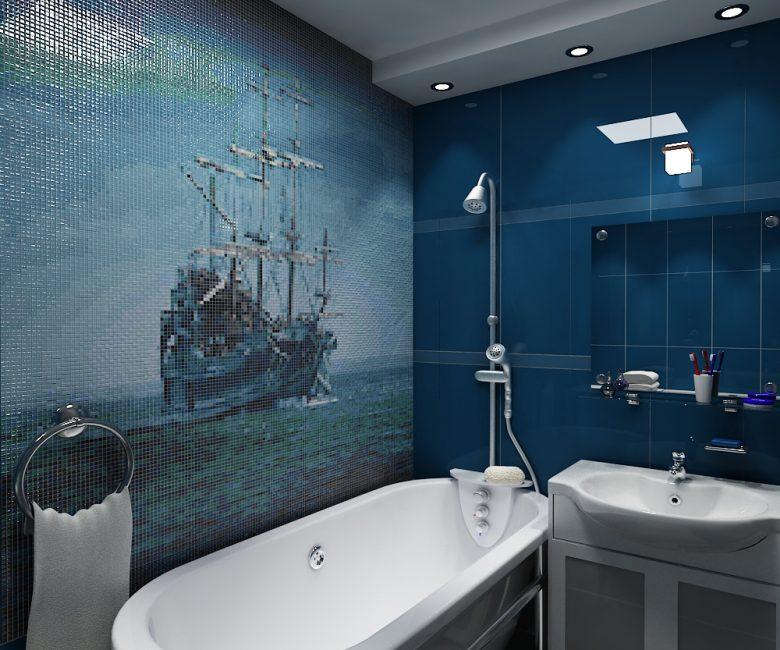 Lukisan dinding dalam tema marin
