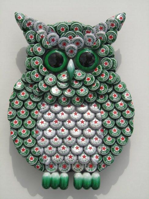 Beer Cap Owl
