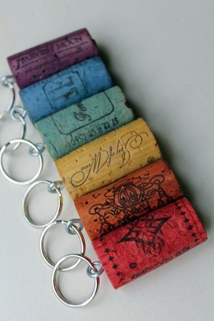 Rantai kunci multicolored