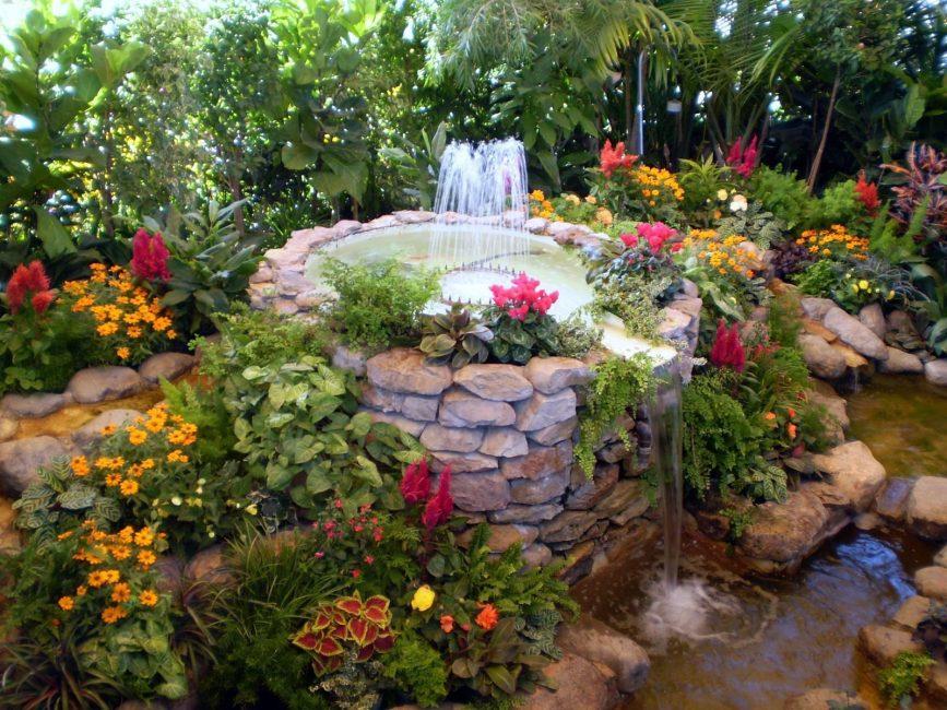 Fountain sebagai sebahagian daripada reka bentuk landskap