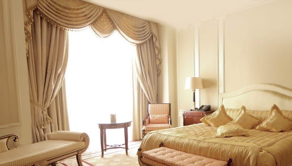 Yatak odası için perdeler