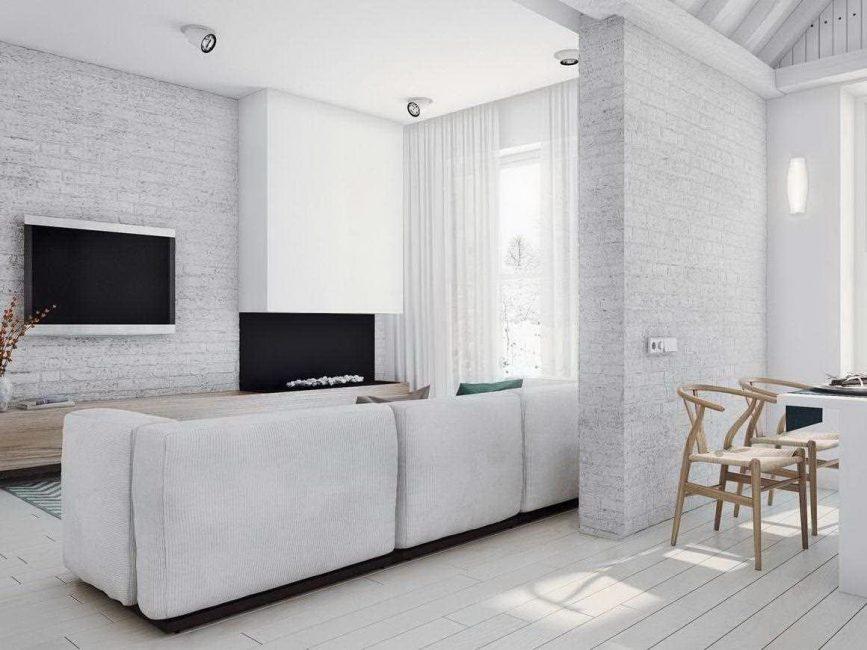 Pangsapuri studio putih