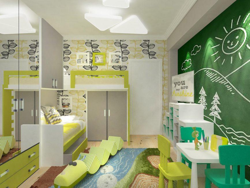 Çocuk odasının yaratıcı tasarımı