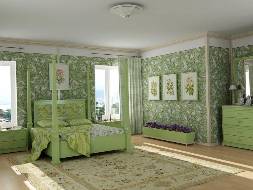 Rahat rustik yatak odası