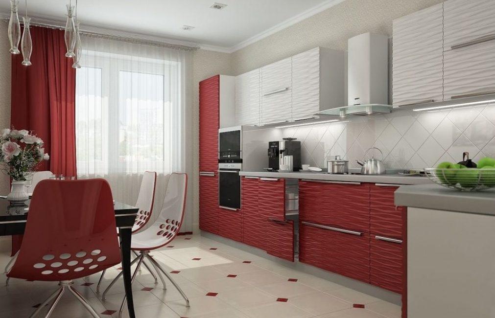 Untuk dapur adalah lebih baik untuk memilih bahan-bahan yang boleh dibasuh praktikal