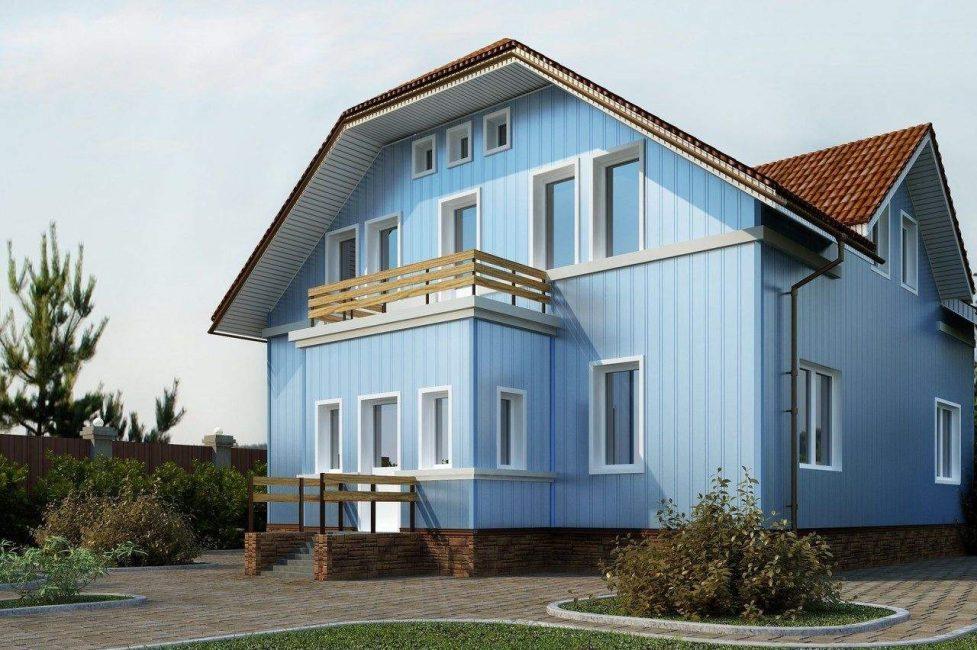 Dikey ürünler evi görsel olarak daha uzun hale getirecek.