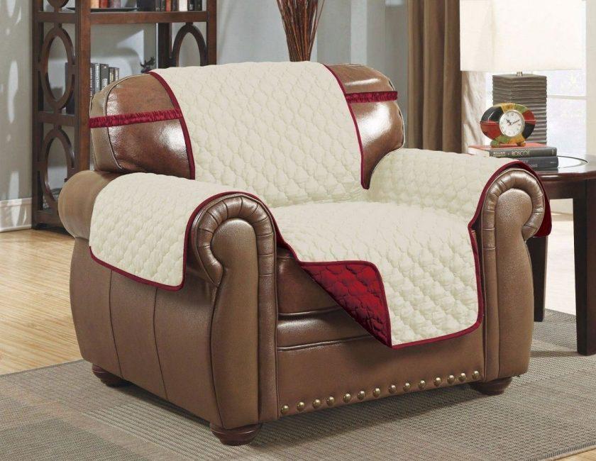 Ciri-ciri capes untuk sofa dan kerusi, pelbagai mereka