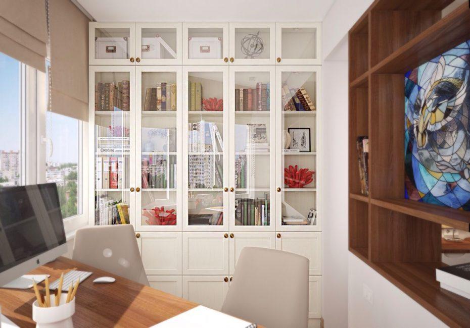 Model putih untuk buku, walaupun kesederhanaan, kelihatan moden dan luar biasa