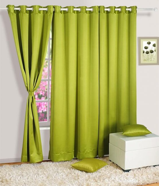 Tirai warna musim panas hijau