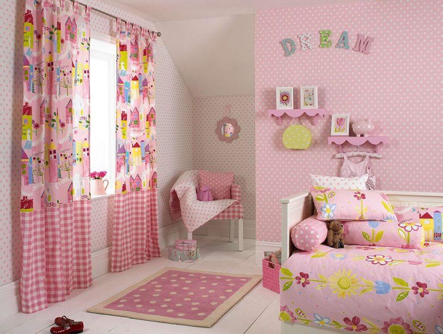 Bilik merah jambu untuk seorang puteri kecil