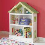 Rak untuk buku dan mainan di tapak semaian: Penyelesaian sistem penyimpanan mudah dan asli (225 + Foto)