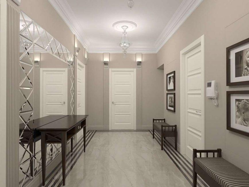Dewan masuk putih dalam gaya eko