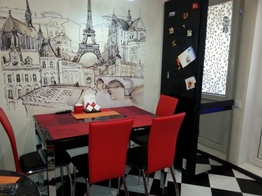 Paris mutfakta - güzel ve rahat