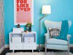 Biru: Warna Zen di pedalaman untuk mencapai ketenangan. 210+ (Foto) Kombinasi warna di dapur, di ruang tamu, di bilik tidur