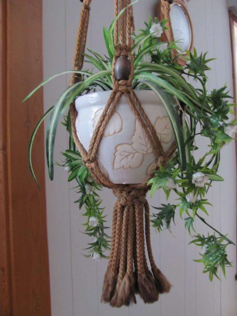 Crochet vasi sospesi