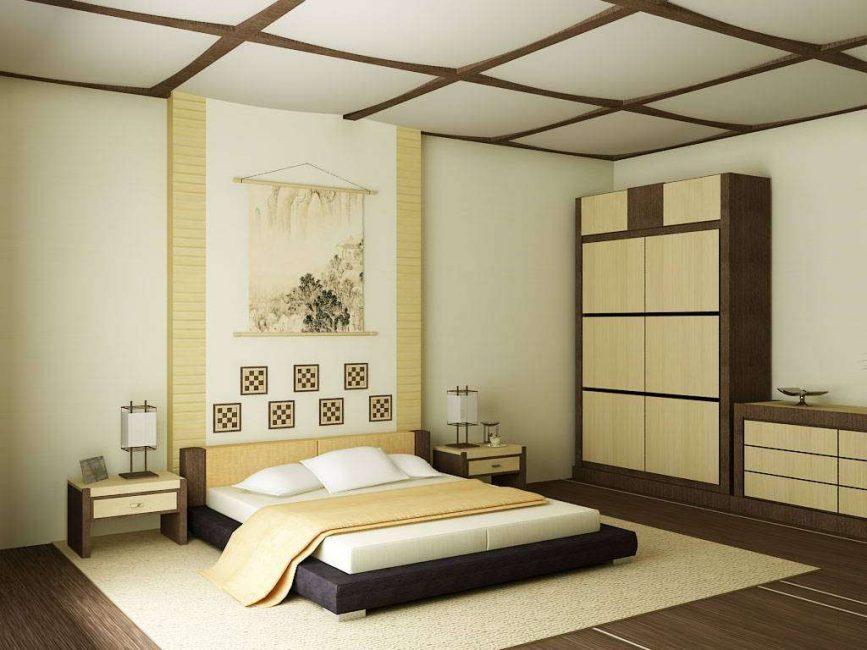 Sedikit Jepun untuk bilik tidur
