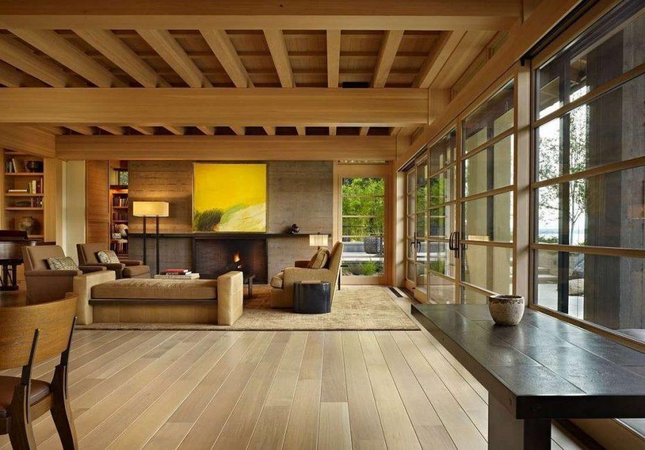 Reka bentuk kayu semula jadi
