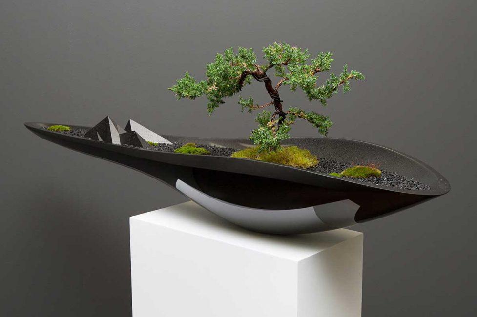 Bonsai adalah elemen reka bentuk yang popular.