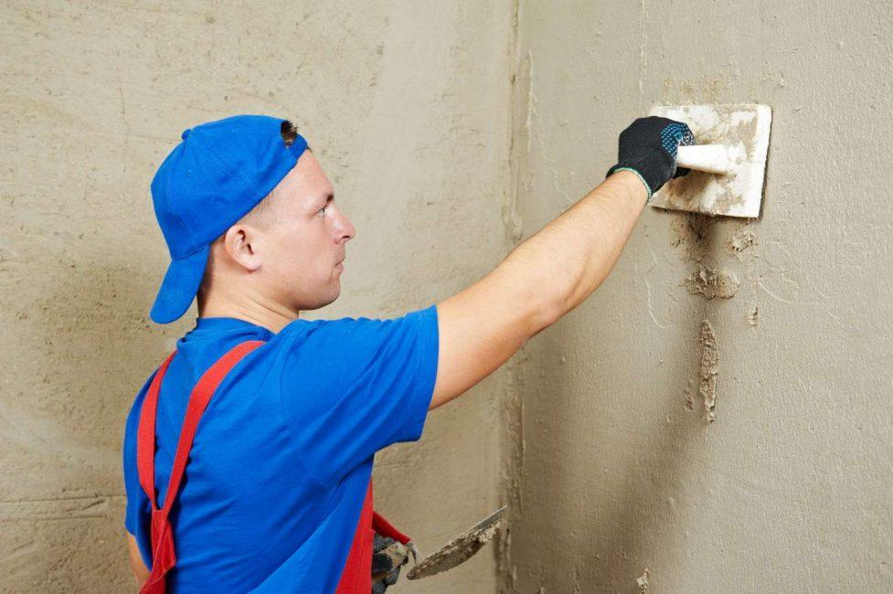 Untuk keperluan dinding plaster simen mortar