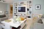 Rak TV di dinding (295+ Foto): nuansa Reka bentuk (hinged, sudut, kaca)