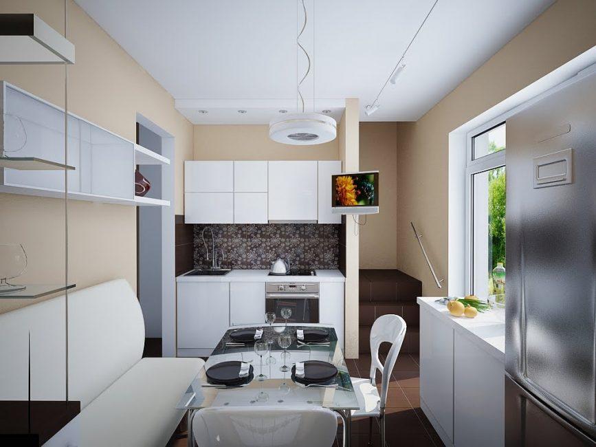 Lampu bukan sahaja kelihatan baik, tetapi juga membantu dalam zoning sebuah bilik