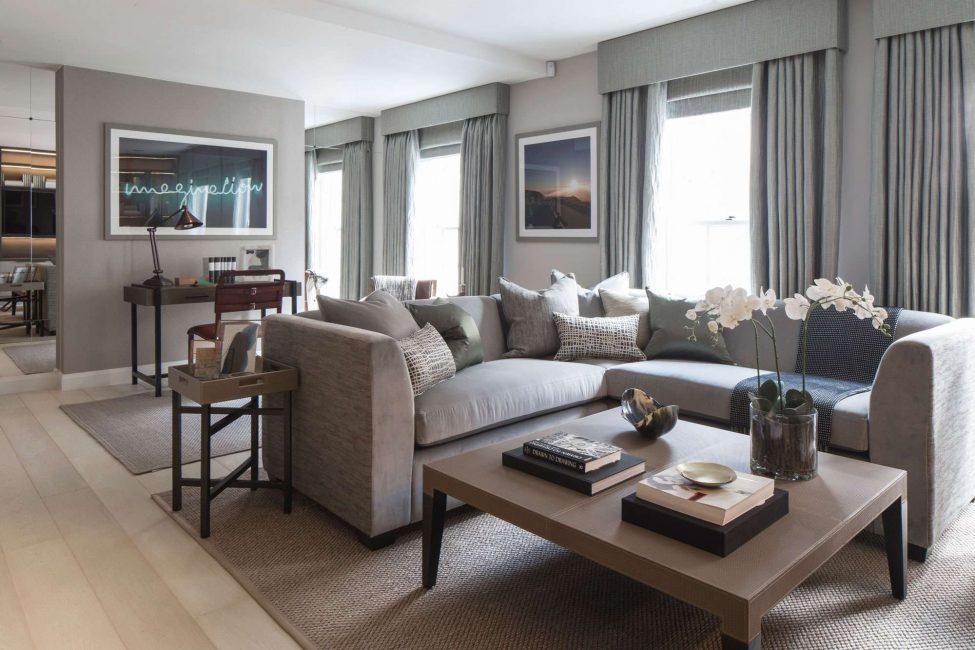 Ciri sofa rendah dan luas