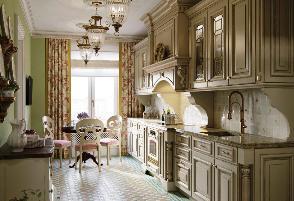 Unit dapur yang jelas dan licin