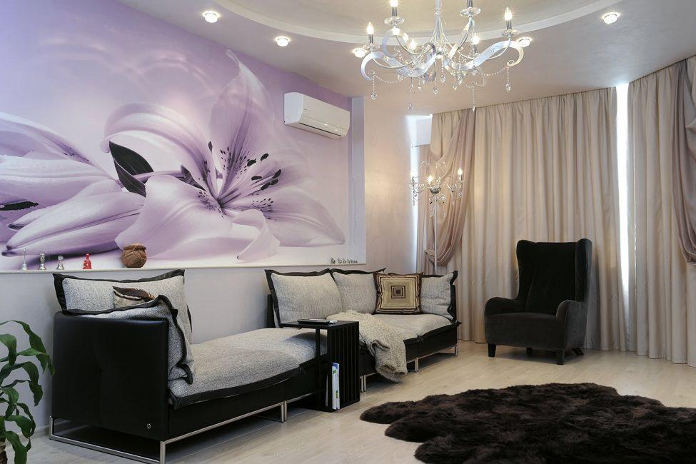 Pilih dinding dengan wallpaper foto