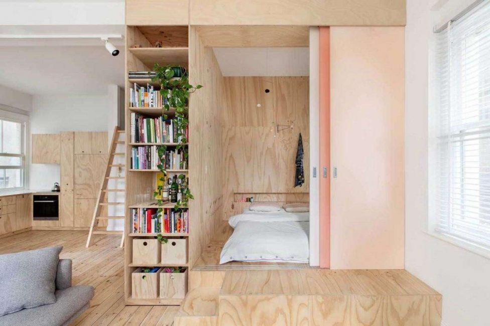 Küçük dairelerde, podyum düşük yapmak daha iyidir