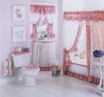 욕실의 커튼 선택 : 디자인 (패브릭, 플라스틱, 유리)을위한 175+ (사진)