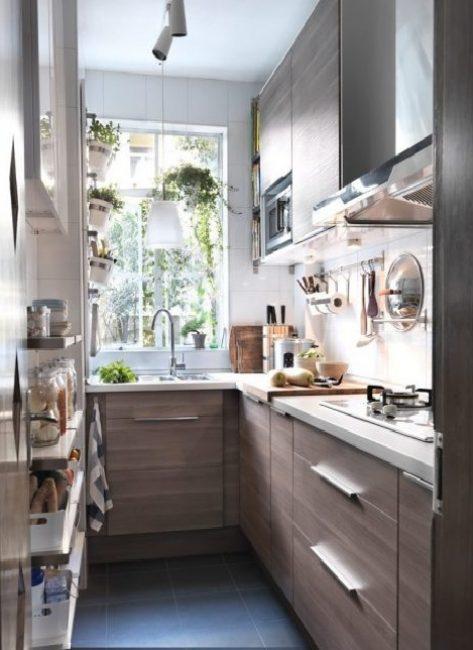 Dapur sempit boleh kelihatan hebat