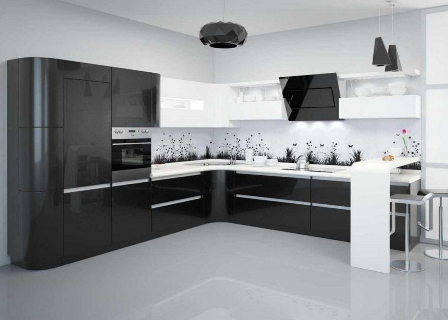 المطبخ الأسود التصميم 220 صور مجموعات في الداخل