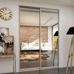 Πόρτες με καθρέφτη: 125+ (φωτογραφία) είσοδος και εσωτερικό στο εσωτερικό (πλαστικό, μέταλλο, ξύλο, κουπέ)