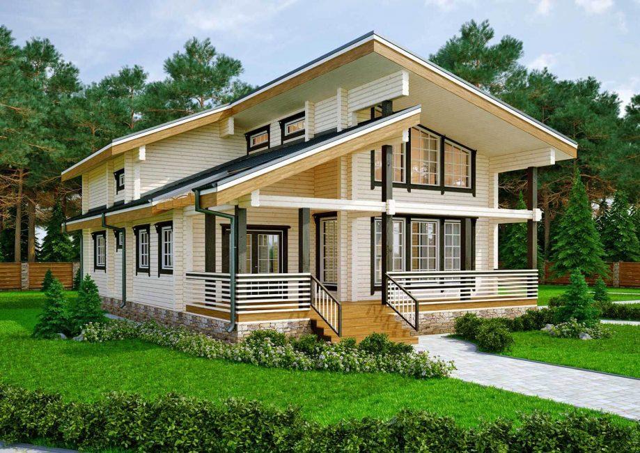 Pilihan popular untuk rumah dari kayu terpal