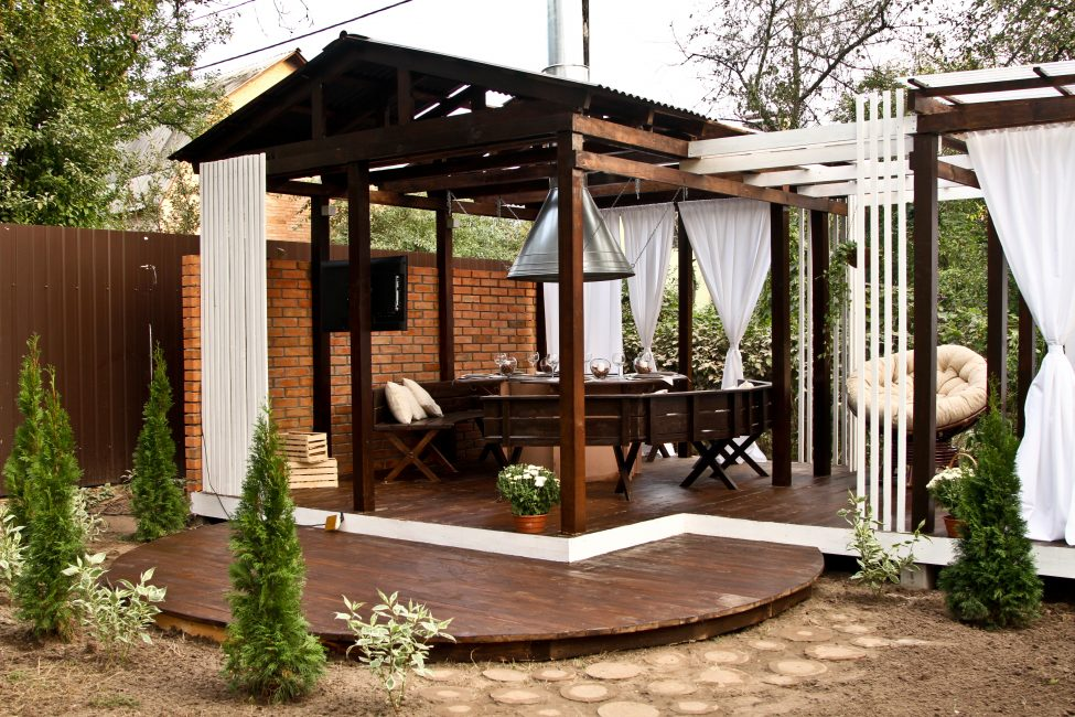 Garden gazebos are designed for comfort.