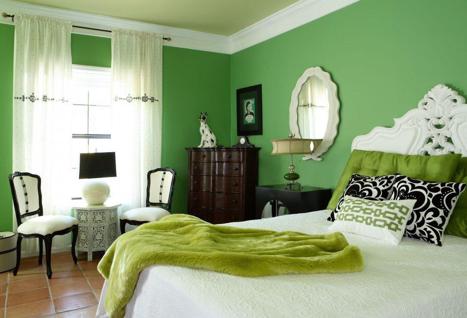 Bilik tidur hijau, dari segi psikologi, pilihan yang baik