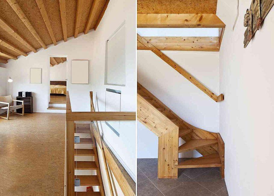 Menaiki tangga ke loteng