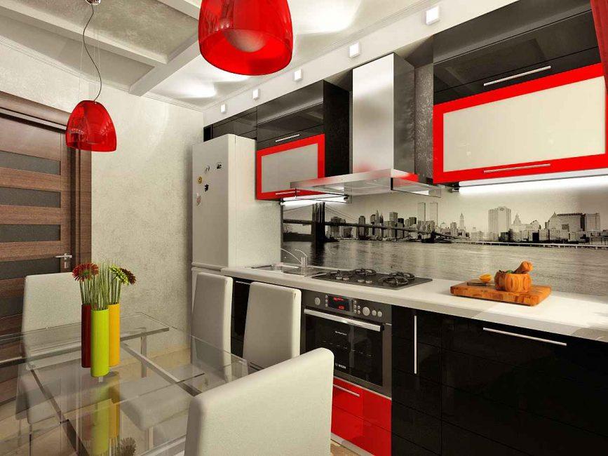 Aksen dapur yang terang