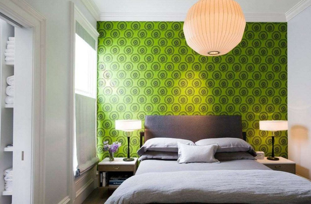 Yeşil duvar aksanı