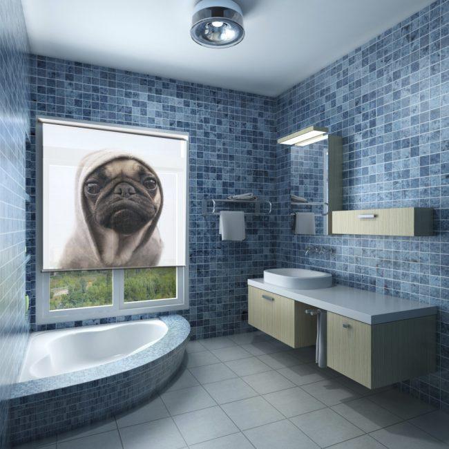 Buta roller adalah apa yang anda perlukan di bilik mandi.