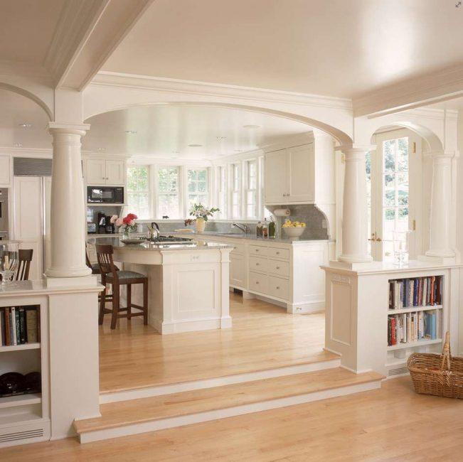 Idea bagus yang memisahkan ruang tamu dan dapur