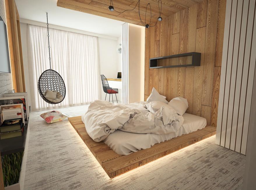 Bilik tidur yang bergaya dan selesa