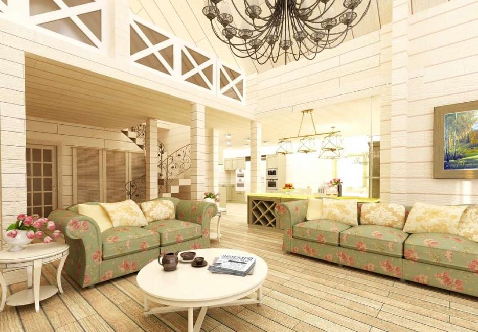 Ruang tamu gaya Provence