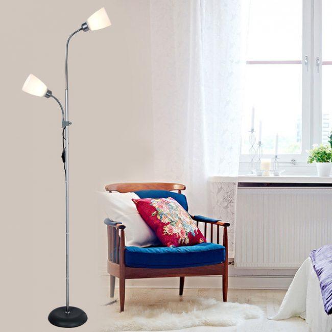 lampu lantai dengan pencahayaan LED