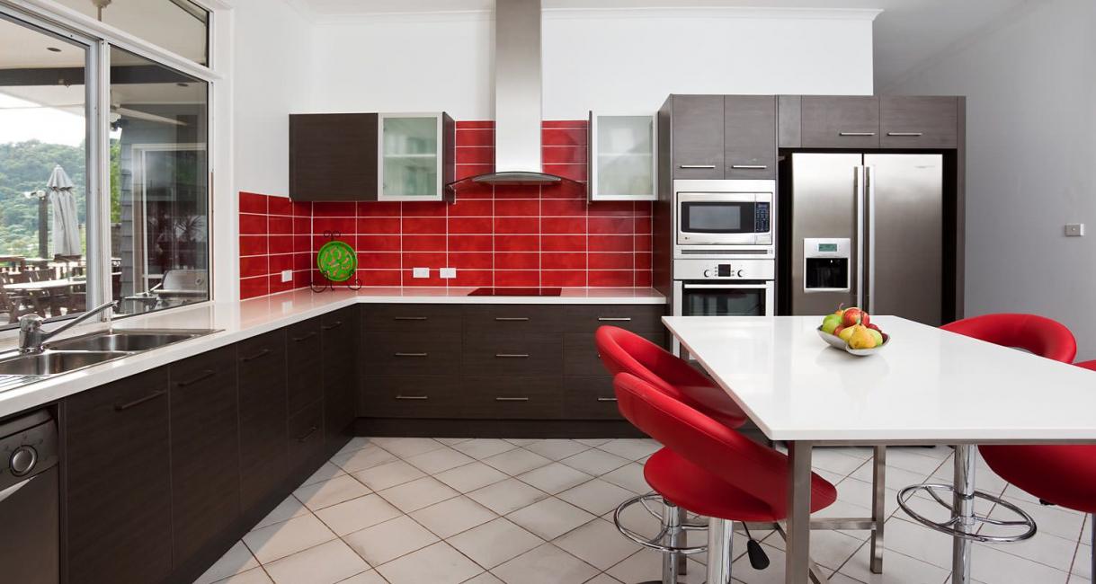 Dapur yang selesa dalam gaya klasik