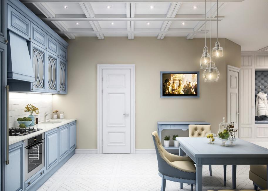 Dapur cantik berwarna biru