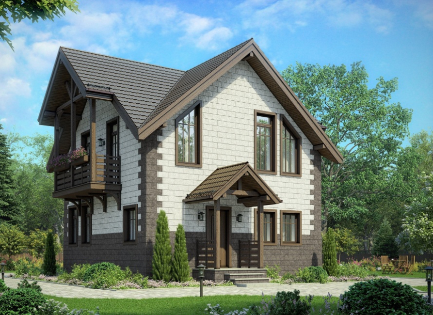 Belle conception d'une maison de campagne